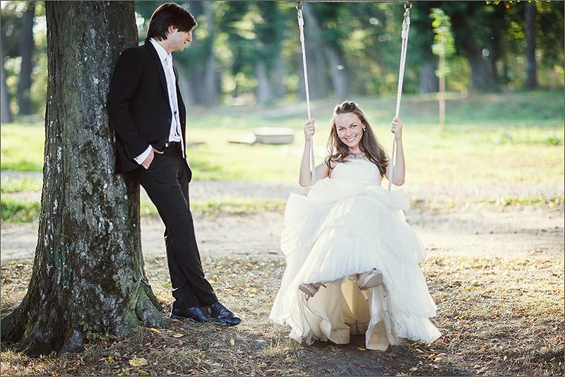 Plener ślubny pani młoda suknia ślubna