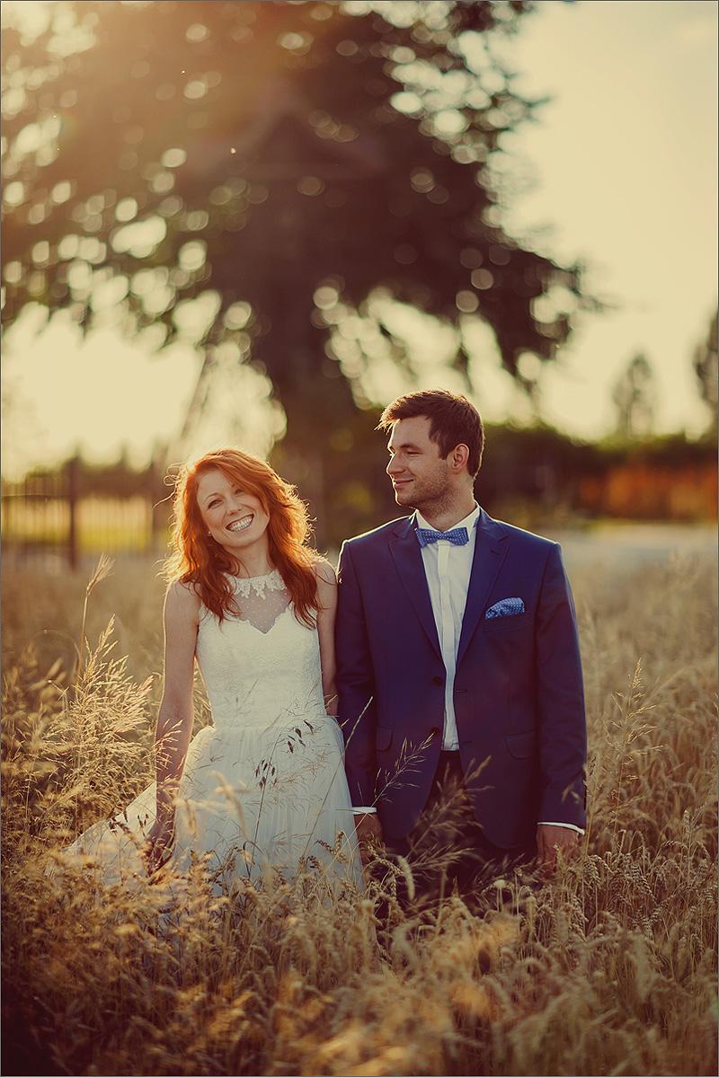 Zdjęcia ślubne plener zachód słońca