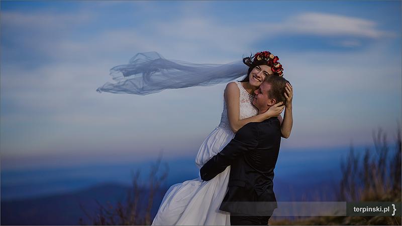 Romantyczny plener ślubny