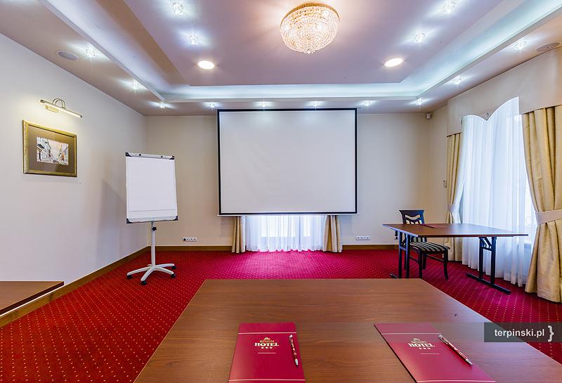 Sesja zdjęciowa wnętrza hotelu sala konferencyjna