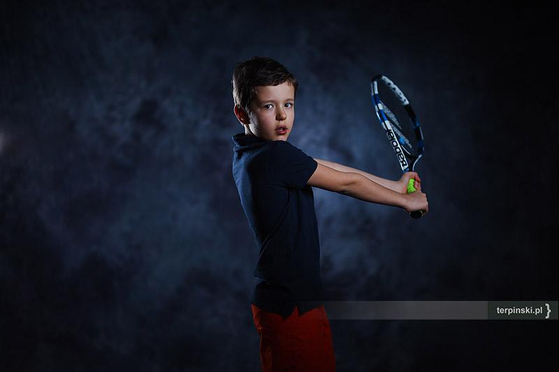 Studio fotografii dziecięcej sesja tenisowa