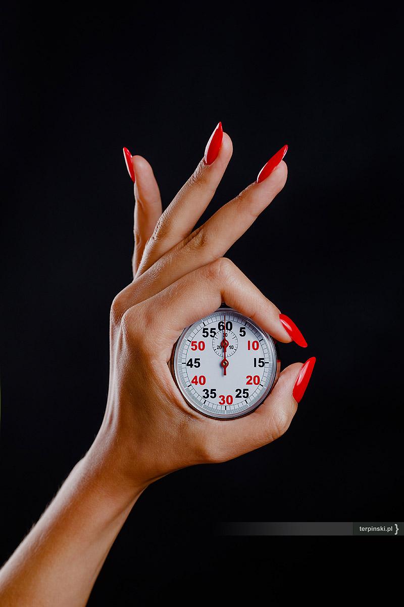 Zegarek w dłoni Rzeszów studio