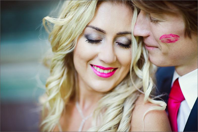 zdjęcia ślubne  Rzeszów całus plener