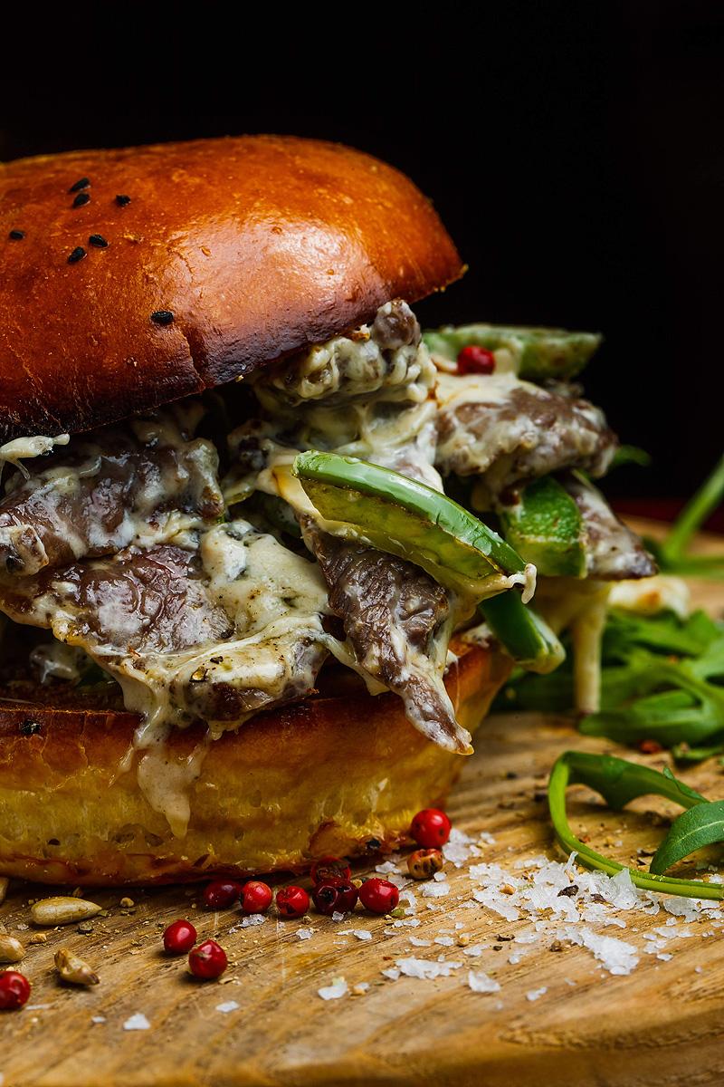 Fotografia żywności Rzeszów mięso Hamburger Serowy