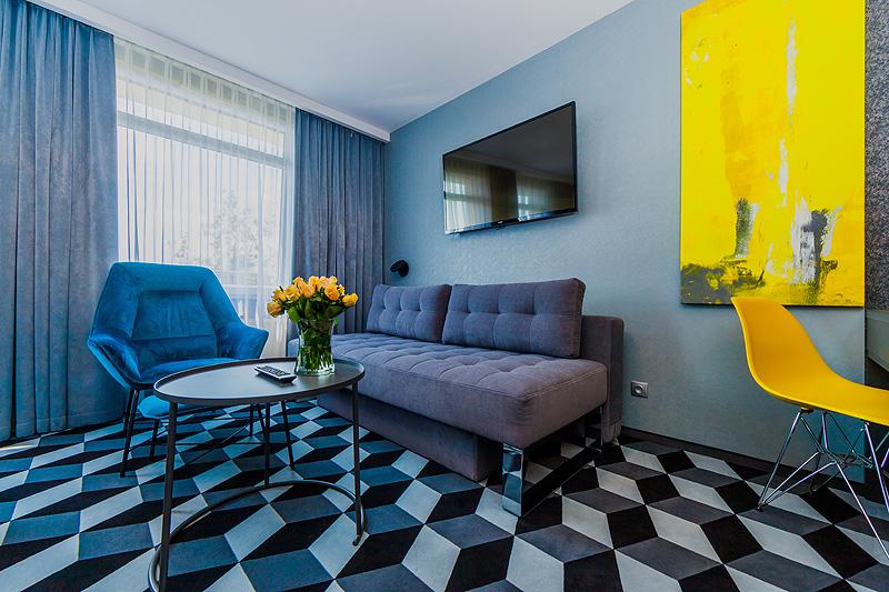 Zdjęcia komercyjne wnętrz hotelu pokój apartament