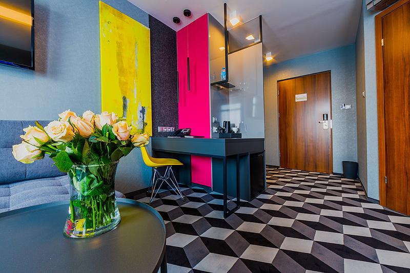 Zdjęcia komercyjne wnętrz Zdjęcia hotelu wnętrza pokój apartament dwuosobowy