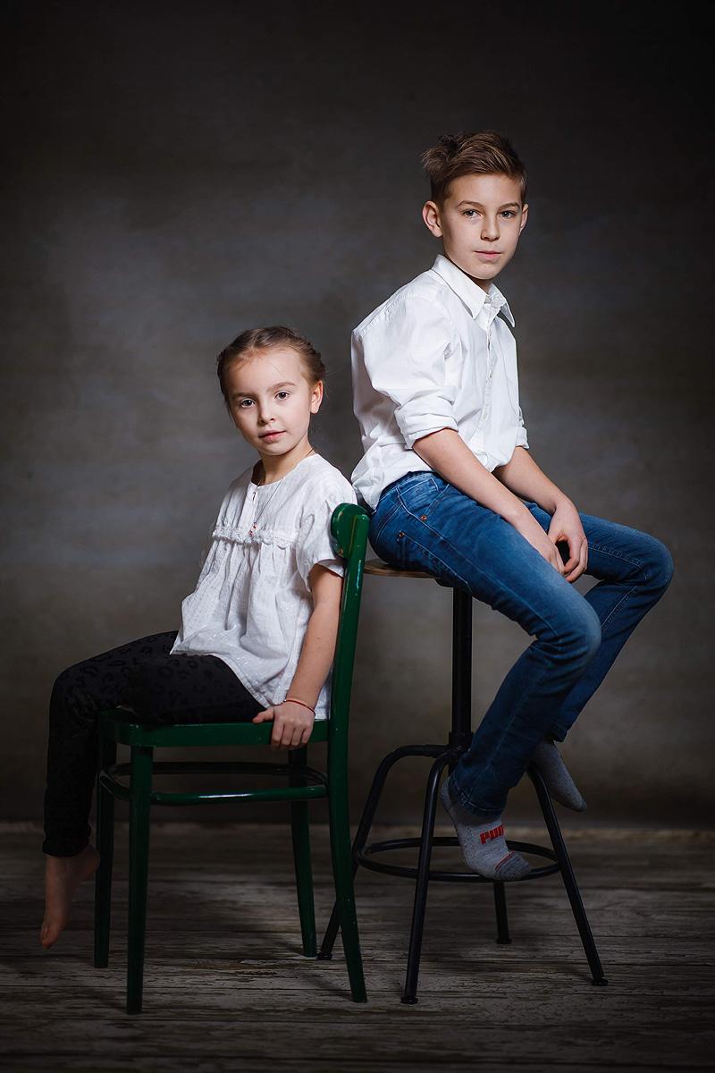Rodzinna fotografia studyjna