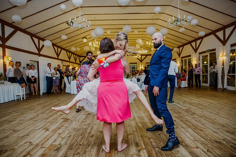 Sesja ślubna na weselu oczepiny