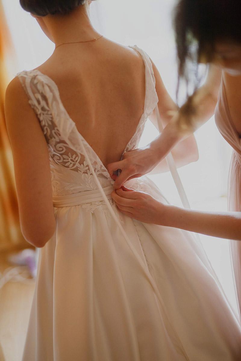 Zdjęcia ślubne na przygotowaniach