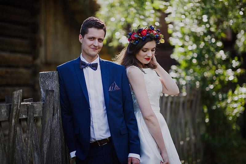 Sesja z ceremonii ślubnej, skansen