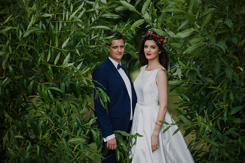 Sesja z ceremonii ślubnej, skansen Kolbuszowa