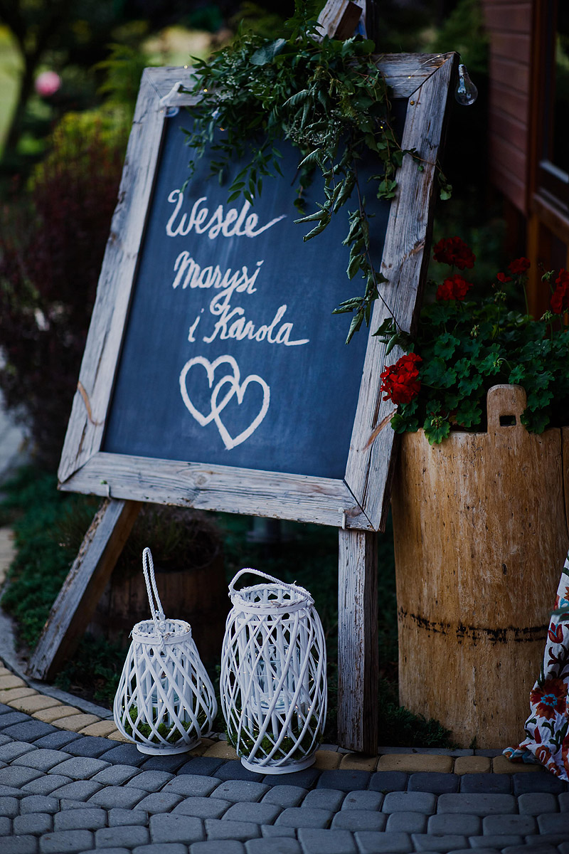 Przyjęcie ślubne dodatki