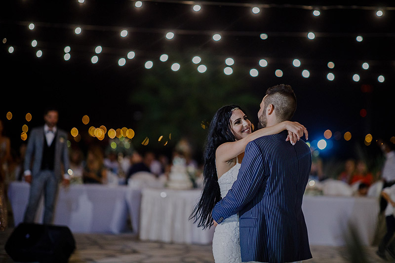 Fotoreportaż ślubny Cypr Grecja pierwszy taniec