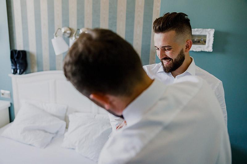 Przygotowania ślubne w w hotelu